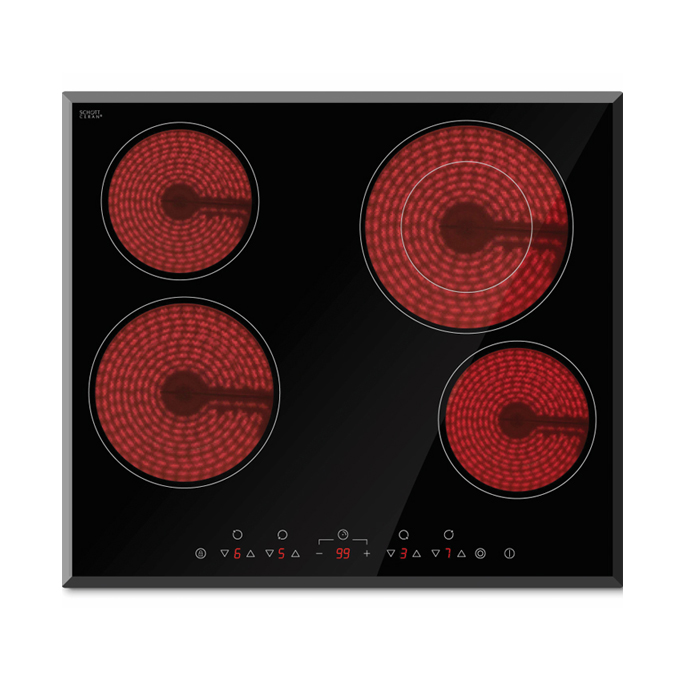 Deluxe Ceramic cooktop dual zone 600mm