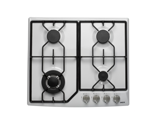 White Gas Cooktop with Wok Burner 60cm
