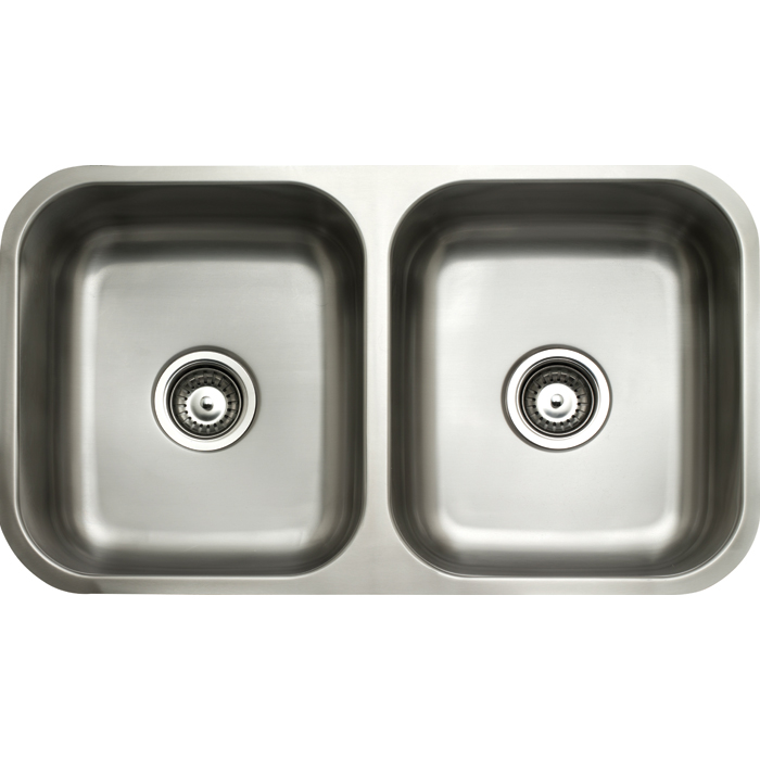 Double bowl undermount gloss 2 x 26 litres