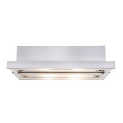 Slideout Rangehood white finish 600mm
